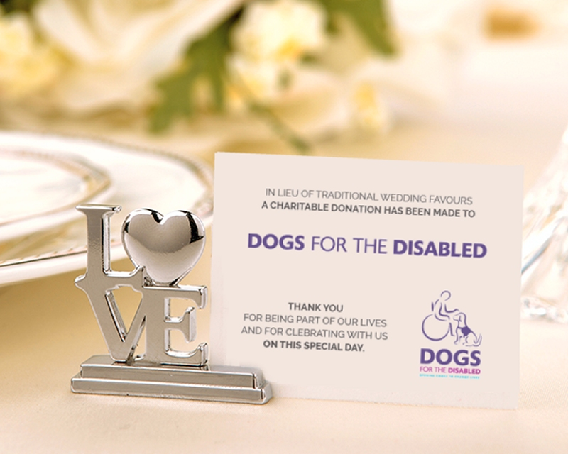 Charity Wedding Favours Dogs For The Disabled